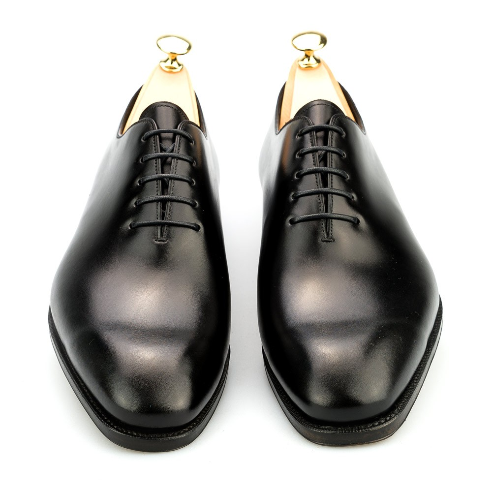 Black Leather Wholecut Oxfords Carmina Shoemaker p0W3wcIt