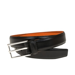 WOMEN BLACK VITELLO BELT