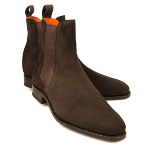 CHELSEA BOOTS 1118 HILLS. CHELSEA ANKLE BOOT IN BROWN SUEDE 5758f531d3