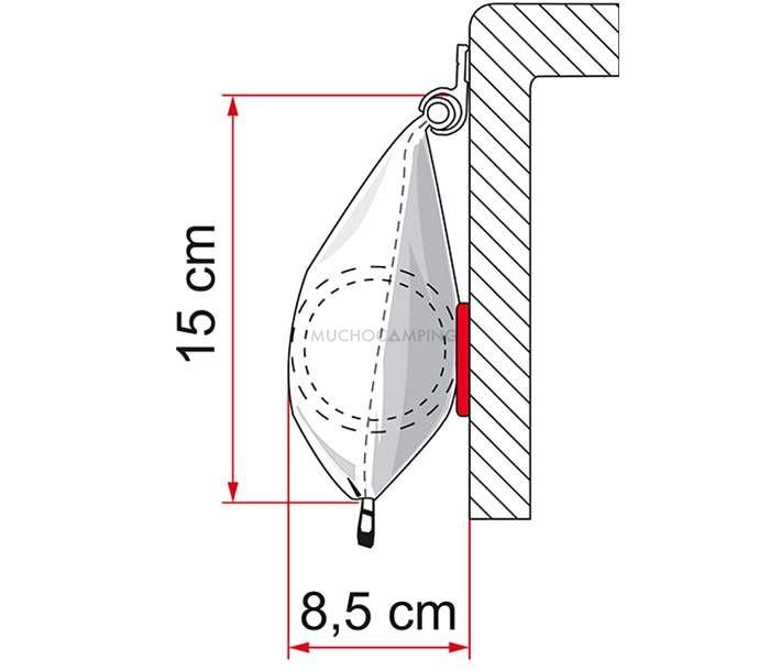 TOLDO CARAVANSTORE XL FIAMMA 2.8 MT GRIS ROYAL 1