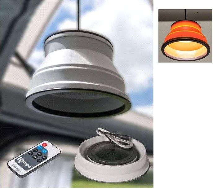 LAMPARA PLEGABLE LED GROOVE CON MANDO ORANGE