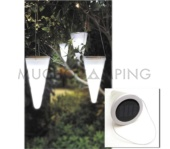 SET DE 3 LUCES LED SOLAR TREE CONE