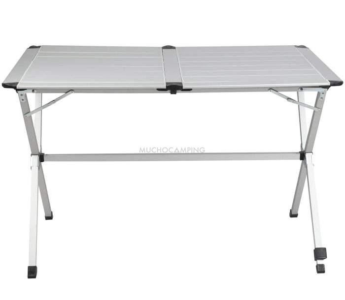Mesa plegable aluminio gp4 accesorios camping muchocamping for Mesa de camping plegable de aluminio