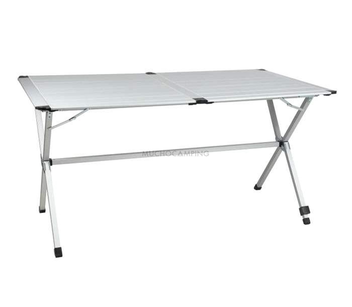 Mesa plegable aluminio gp6 accesorios camping muchocamping for Mesa de camping plegable de aluminio