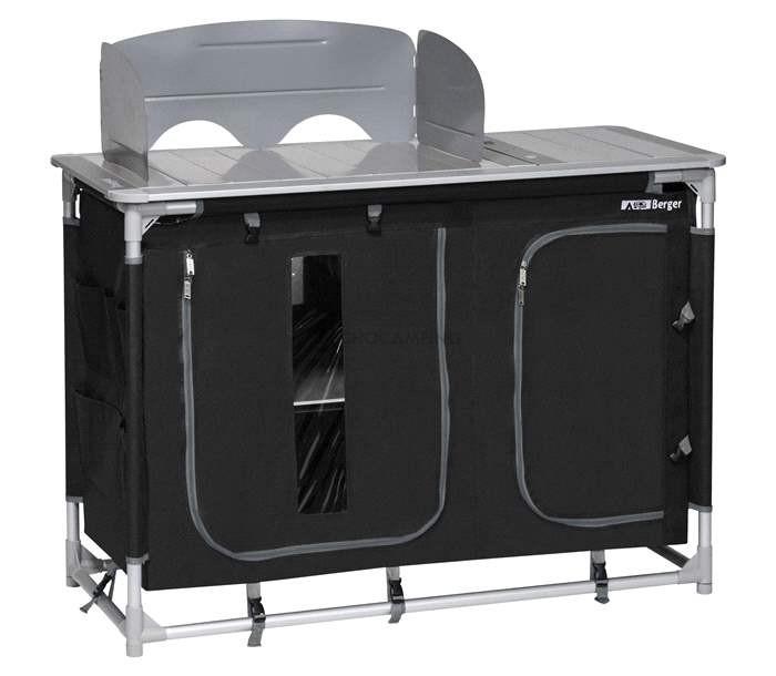 Mueble tubular Bigger Black - Cocina camping | Muchocamping