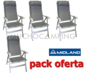 PACK 4 SILLAS MIDLAND CONFORT MAXI GRIS