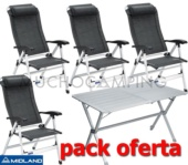 PACK MIDLAND NEW MESA GP6 + 4 SILLAS CONFORT MAXI