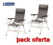PACK DUO PLUS SILLAS OUTWELL MILTON 2019