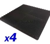 SET 4 LOSETAS TIENDA COCINA 50X50 BLACK
