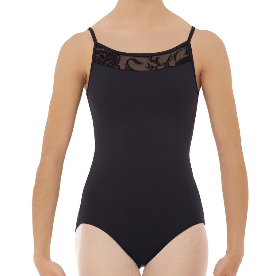 Maillot Transparencia Floral Negro 31421