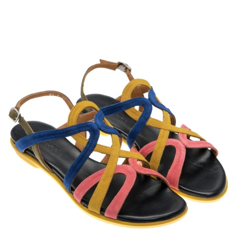 flat sandals, Audley, yellow sandals, Sara, summer