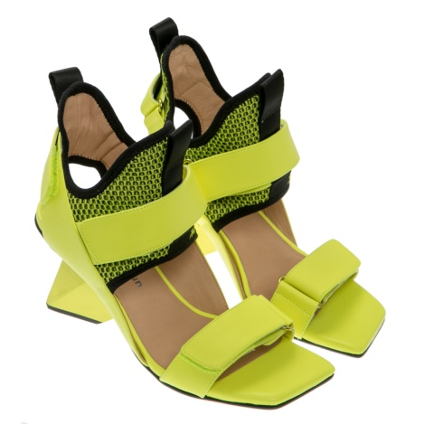 woman sandals, lime, rise, united nude, neoprene