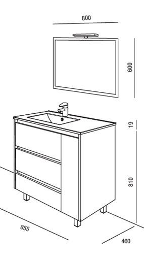 Meuble salle de bain Arenys 855 de Salgar - Article4