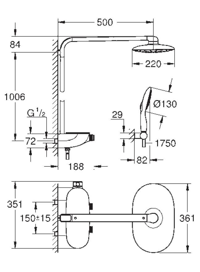 Colonne de douche thermostatique - Article5