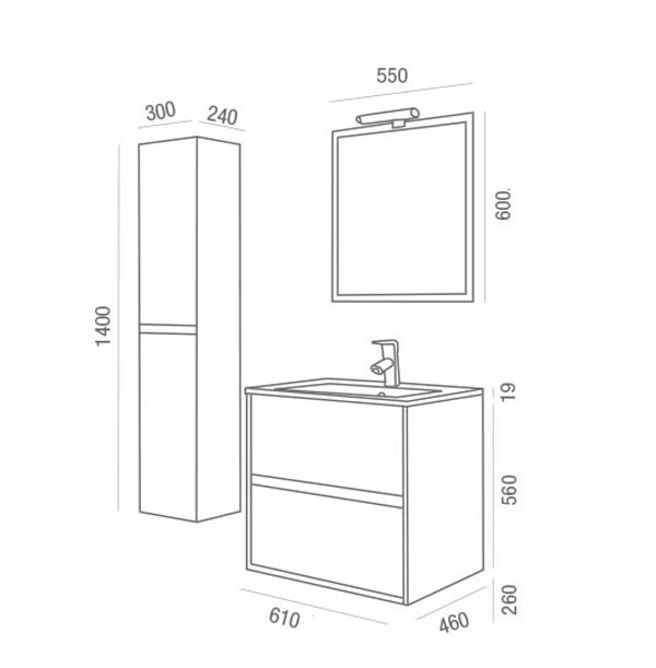 Noja Salgar - Meuble salle de bain - Article1