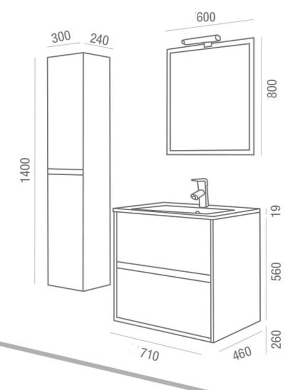 Noja Salgar - Meuble salle de bain - Article2