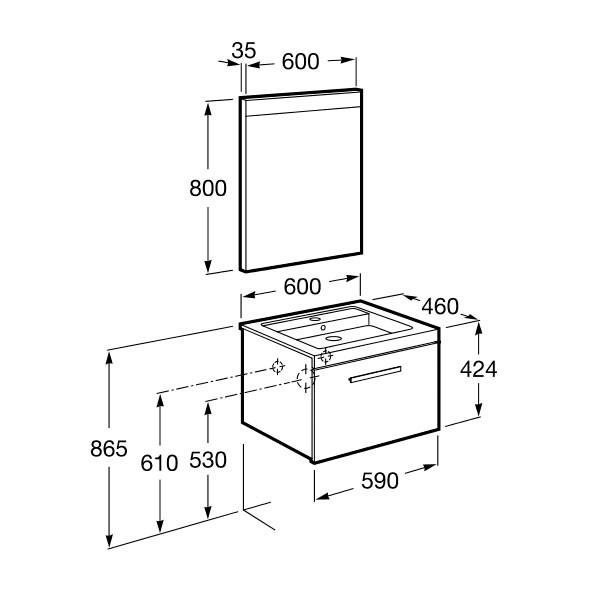 meuble salle de bain roca - Article6