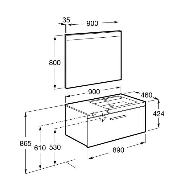 meuble salle de bain roca - Article9