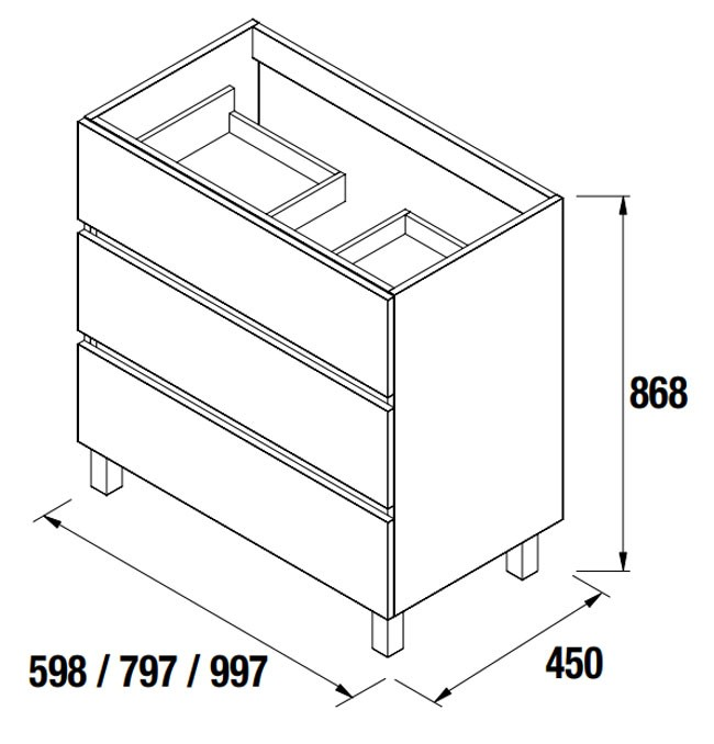 Meuble salle de bain Fussion Line de Salgar - Article4