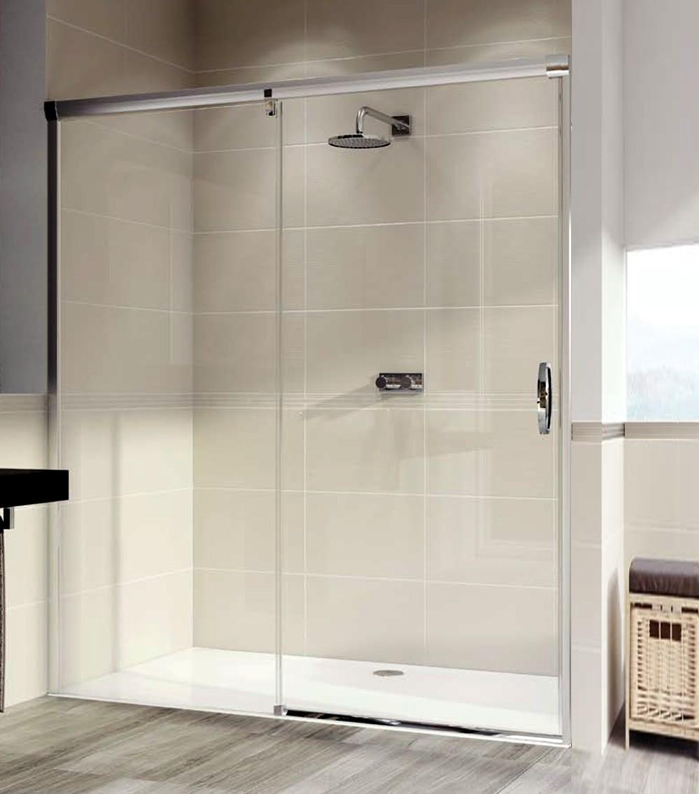 paroi de douche 1 cran fixe et 1 porte coulissante aura. Black Bedroom Furniture Sets. Home Design Ideas