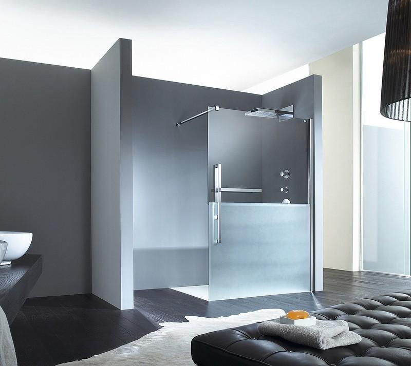 porte de douche fixe duplo huppe. Black Bedroom Furniture Sets. Home Design Ideas