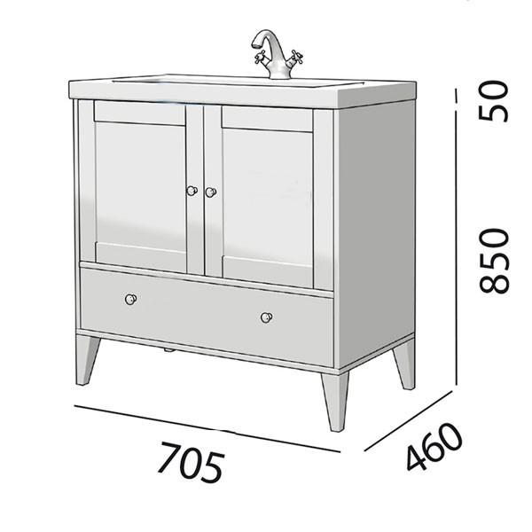 Meuble salle de bain Boheme de Salgar - Article5