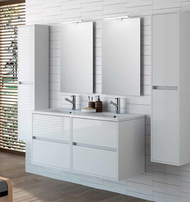 Noja 120 cm salgar meuble salle de bain salgar ba o decoraci n - Meuble salle de bain faible encombrement ...