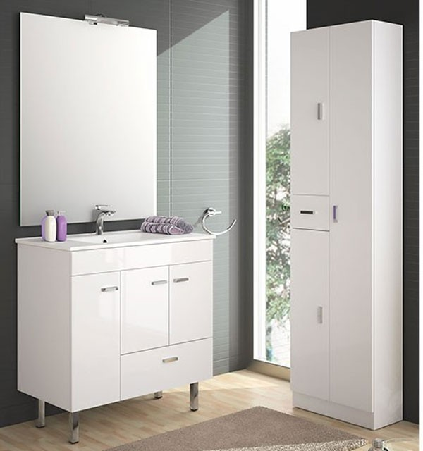 meuble salle de bain 80 cm faible profondeur plan. Black Bedroom Furniture Sets. Home Design Ideas