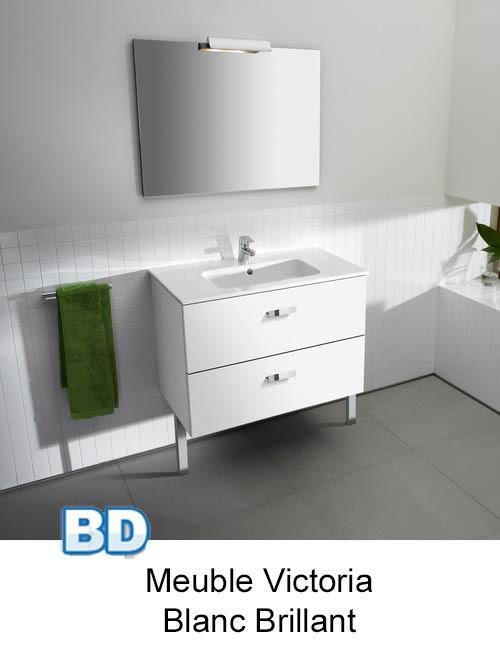 Meuble pack victoria basic de roca ba o decoraci n france for Meuble de salle de bain roca