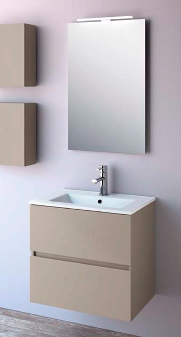 Meuble salle de bain fussion line salgar for Mueble espejo bano ikea