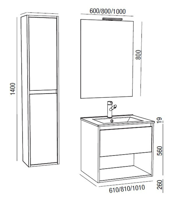 Noja Salgar - espace de rangement - Meuble salle de bain - Article5