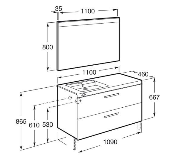 meuble salle de bain roca - Article10