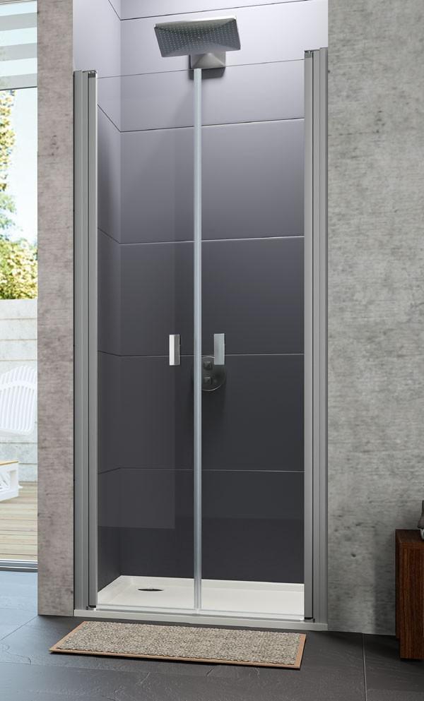 paroi de douche 2 portes battantes design huppe. Black Bedroom Furniture Sets. Home Design Ideas