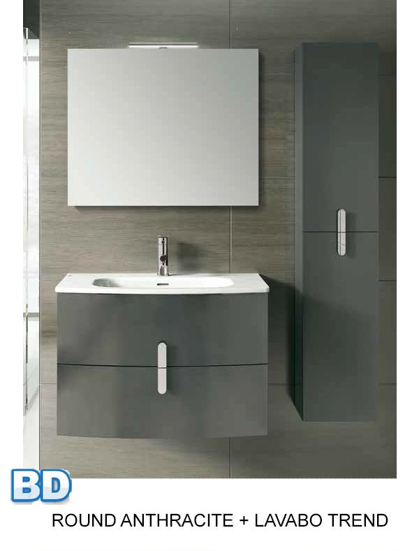 Meuble salle de bain round de royo ba o decoraci n france - Meuble de salle de bain france ...