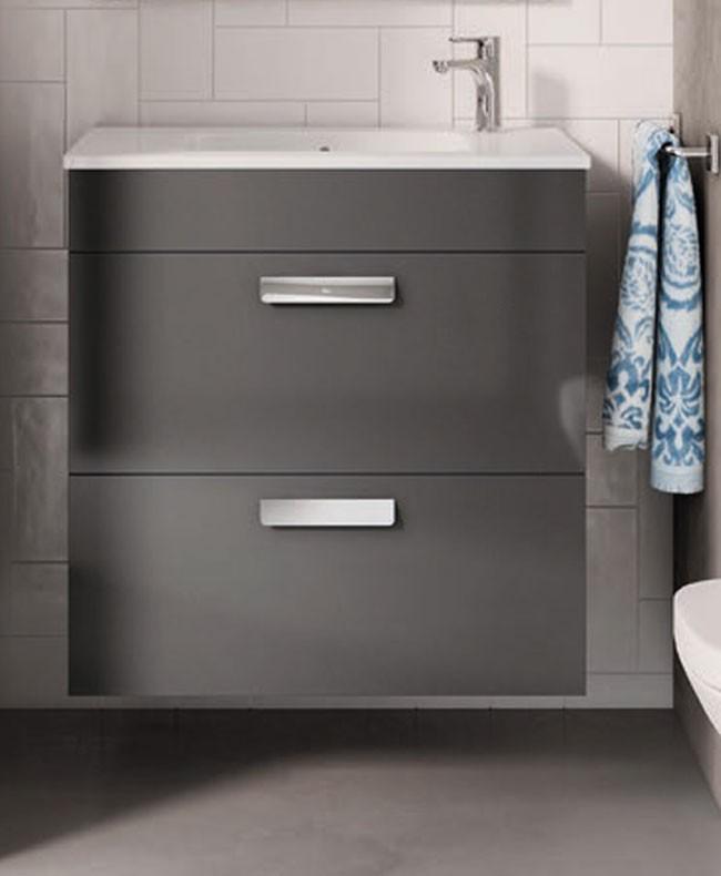 Roca, meubles de salle de bain avec tiroirs, fond réduit
