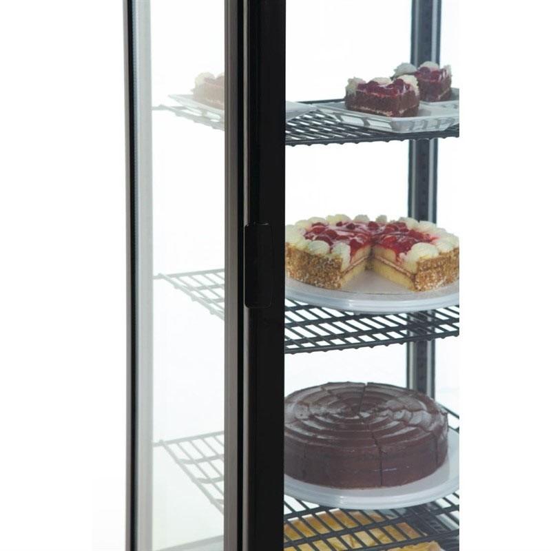 Vitrina refrigeradaa negra con puerta curva de vidrio 235 litros Polar - Ítem3