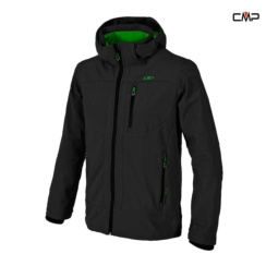 CAMPAGNOLO MAN SOFTSHELL JACKET ZIP HOOD