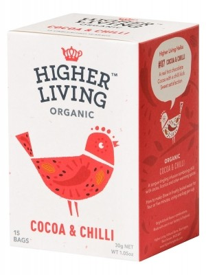 Infusion Bio Higher amp; Living 33 Chili Gr 15 Bolsas Cacao 1w1rS